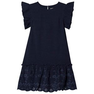Creamie Embroidery Frill Kjole Total Eclipse 116 cm (5-6 år)