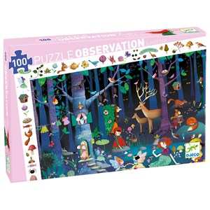 Djeco Observation Puzzle, Enchanted Forest 200 pcs 5 - 11 years