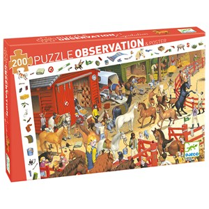 Djeco Observation Puzzle, Horse Riding 200 pcs 6 - 11 years