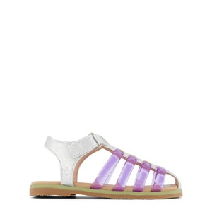 Emu Australia Silver and Purple Brooklyn Faux Leather and Jelly Sandals 24 (UK 7)