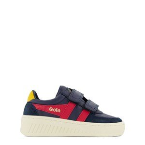Gola Kids Navy, Red and Yellow Grandslam Classic Velcro Trainers 26 (UK 8)