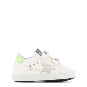 Golden Goose White Baby School Nappa Leather Crib Shoes 16 (UK 0.5)
