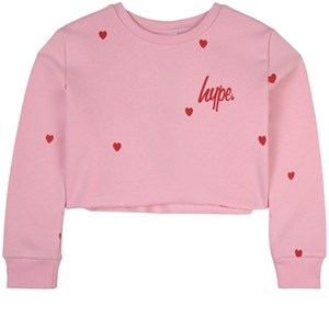 Hype Heart Repeat Sweatshirt Lyserød 11-12 år
