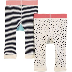 Joules 2-pak Lively Puppy & B Leggings Cremefarvede 6-12 months