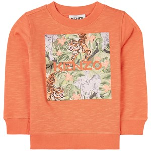 Kenzo Jungle Logo Sweatshirt Orange 3 år