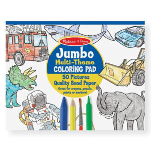 Melissa and Doug jumbo malebog, blå