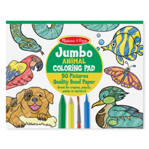 Melissa and Doug jumbo malebog, dyr