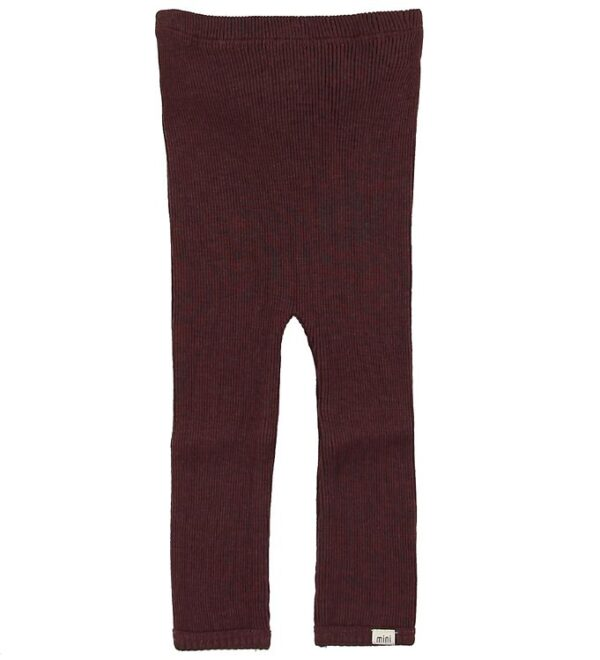 Minimalisma Leggings - Arona - Uld - Raisin