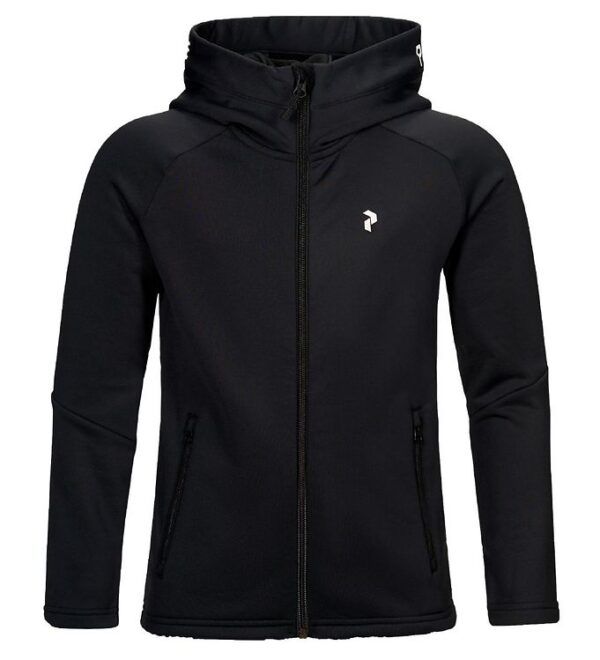 Peak Performance Softshelljakke - Jr Rider Zip Hood - Sort