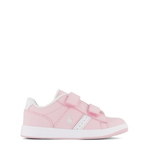 Ralph Lauren Pink with White PP Oakview EZ Velcro Strap Trainer 21 (UK 4.5)