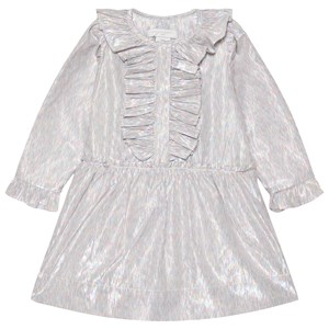 Stella McCartney Kids Multi Stripe Ruffle Kjole Sølvfarvet 12 years