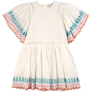 Stella McCartney Kids Scalloped Kjole Hvid 2 år