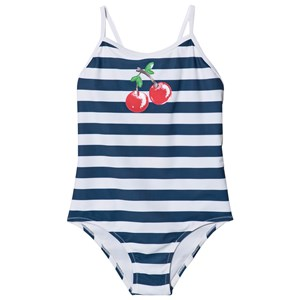 Sunuva Cherries Strappy Badedragt Navy Stribet 2-3 years