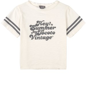 Tocoto Vintage Organic Flame T-shirt Off white 2 år