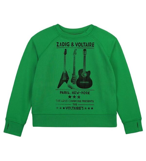 Zadig & Voltaire Sweatshirt - Young Fre - Lime m. Guitar