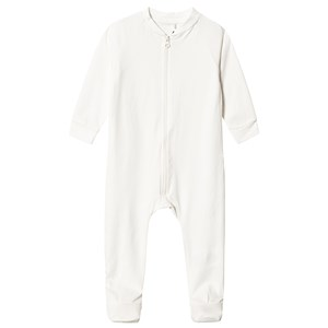 A Happy Brand Footed Baby Body White 74/80 cm