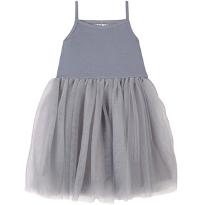 DOLLY by Le Petit Tom Vintage Romantic Tutu Kjole Sølvfarvet Petite (1-3 år)