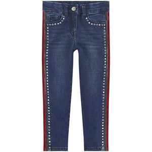 Monnalisa Skinny fit jeans with embroideries 4 år