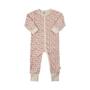 Nightsuit Heldragt AOP - Marshmallow White w. Flowers - Str. 50