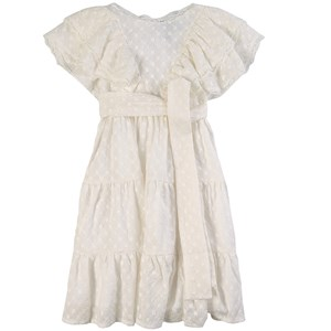 Paade Mode Milan Embroidered Ruffle Kjole Hvid 12 år