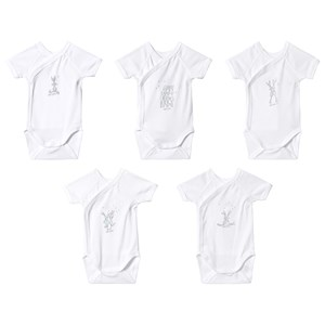 Petit Bateau 5-Pack Baby Bodies White 6 mdr