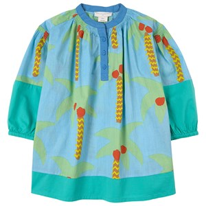 Stella McCartney Kids Palm Trees Kjole Aqua Blue 2 år