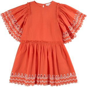 Stella McCartney Kids Scalloped Kjole Flame 4 år