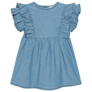 Wynken Fiesta Gather Kjole Light Bleached Chambray 4 år